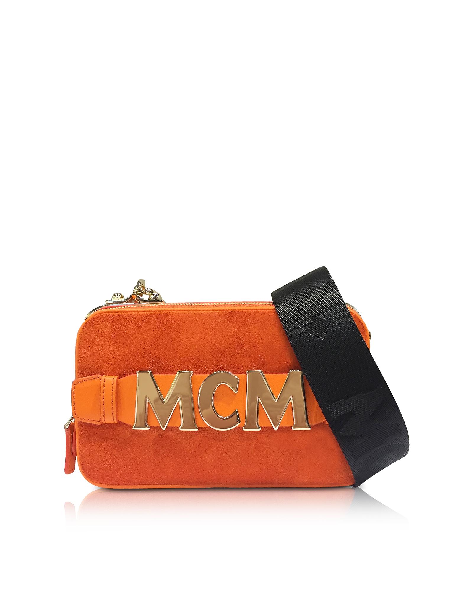 MCM Handbags, Suede Cubism Mini Crossbody Bag