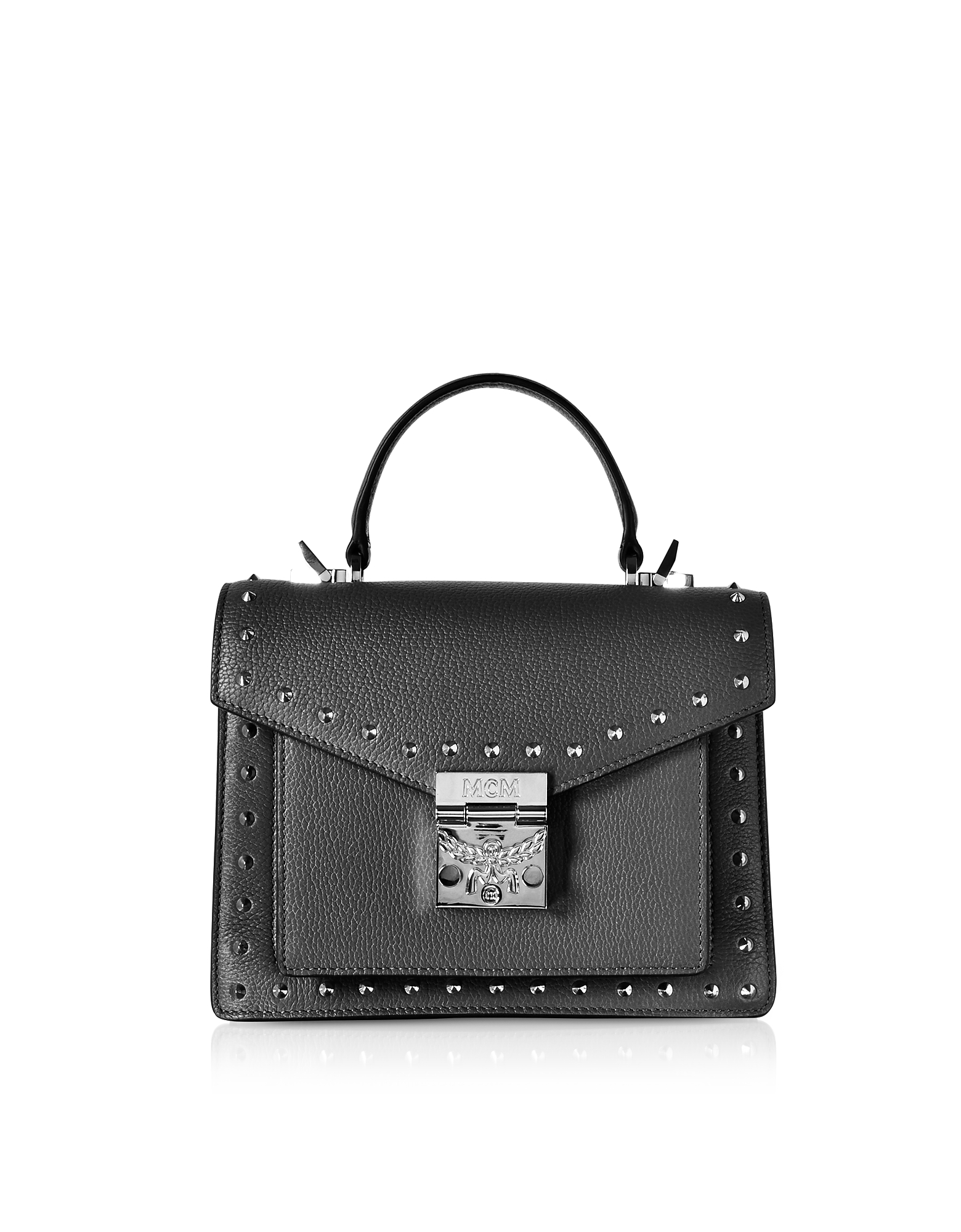 Small Patricia Studded Park Avenue Satchel Bag