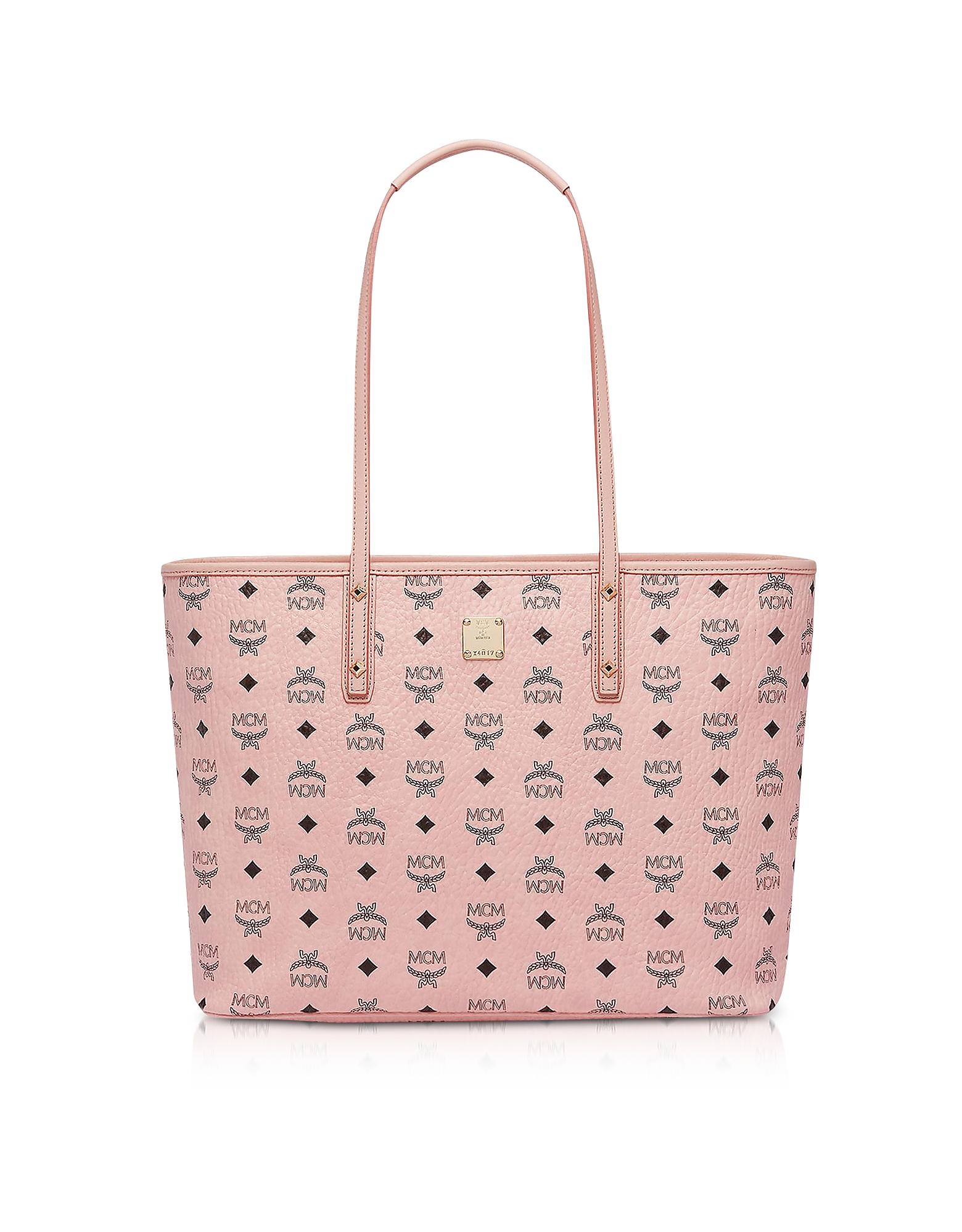 Anya Soft Pink Top Zip Medium Shopping Bag