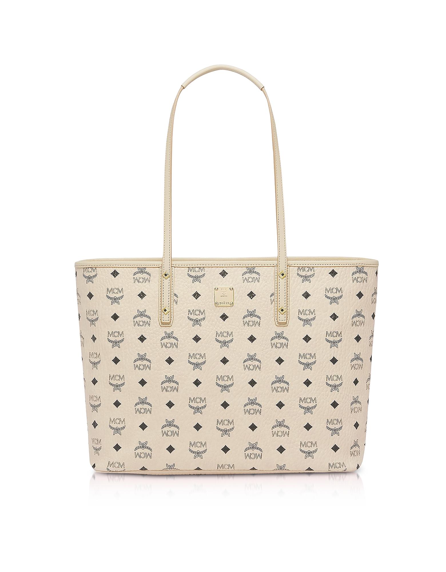 Beige Anya Top Zip Medium Shopper