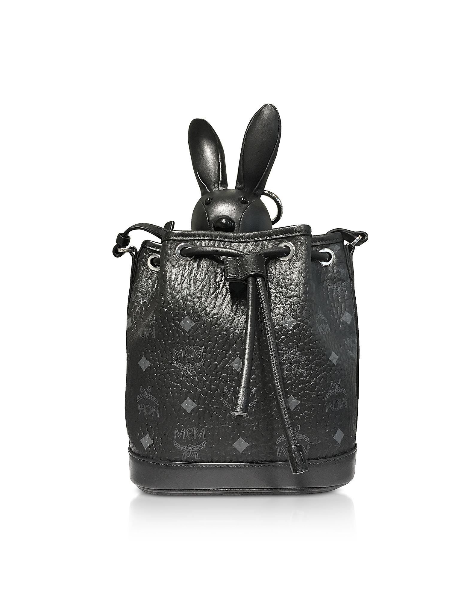 Black MCM Zoo Small Crossbody Bag