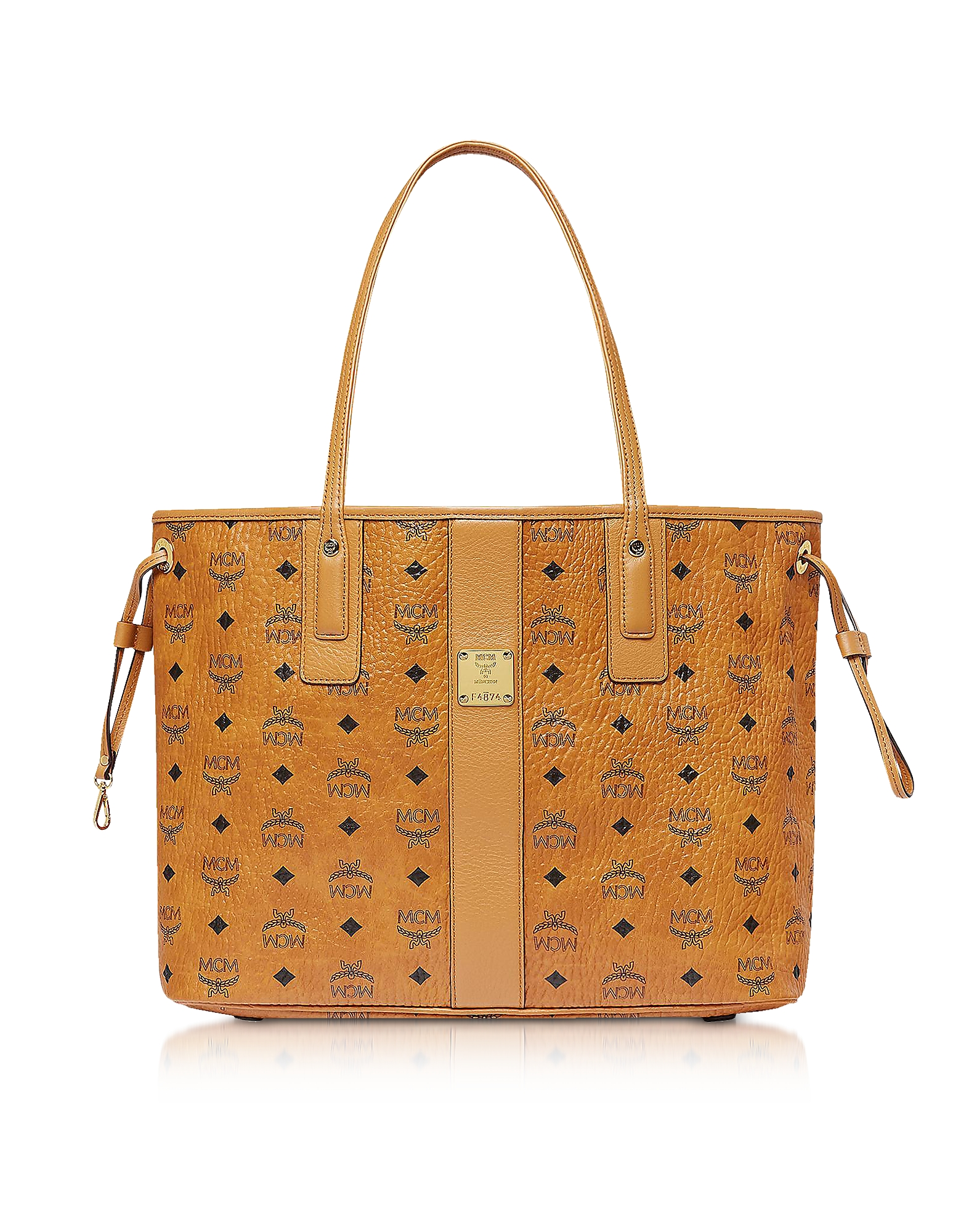 Cognac Visetos Medium Reversible Liz Shopper