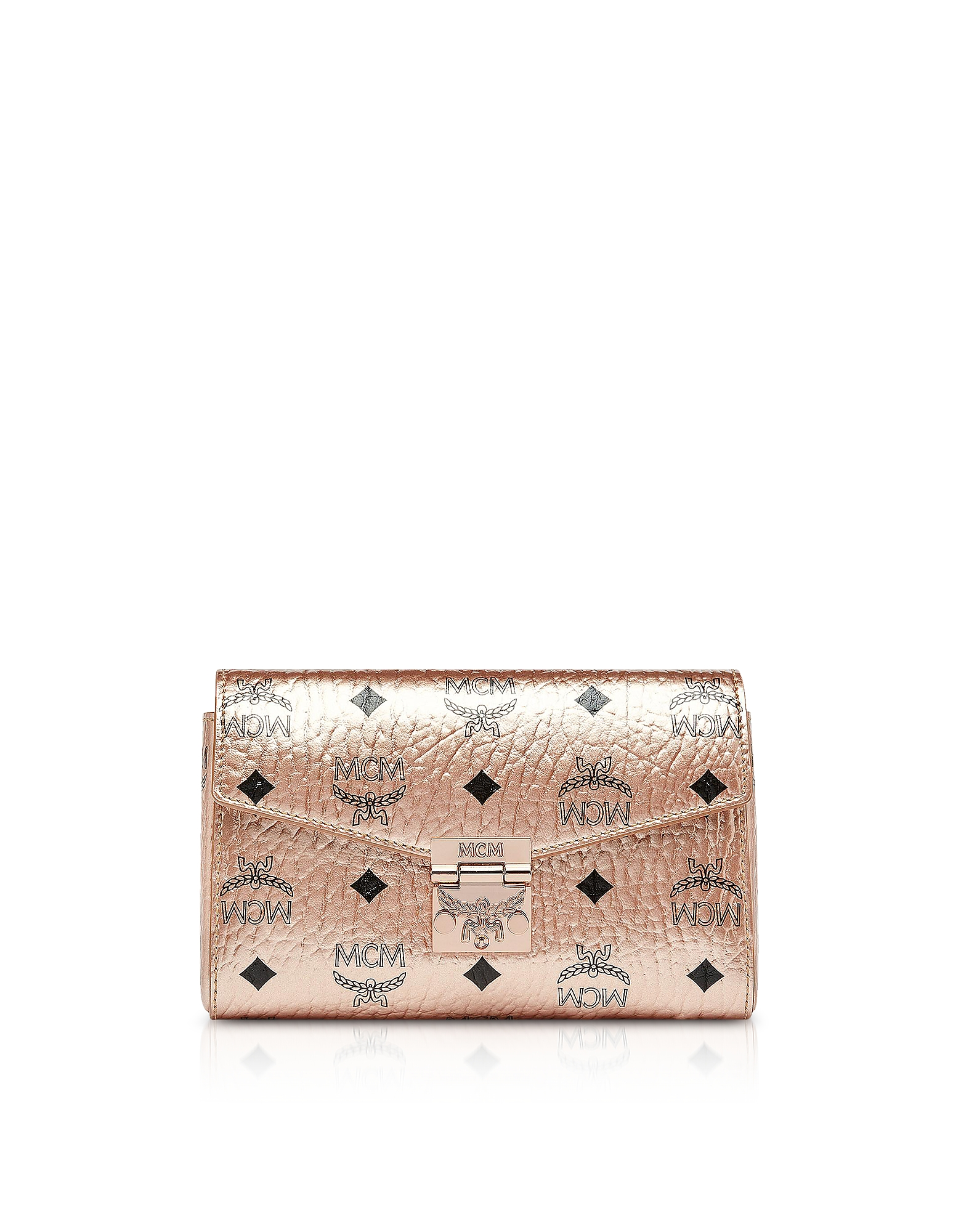 CHAMPAGNE GOLD MILLIE VISETOS SMALL CROSSBODY BAG