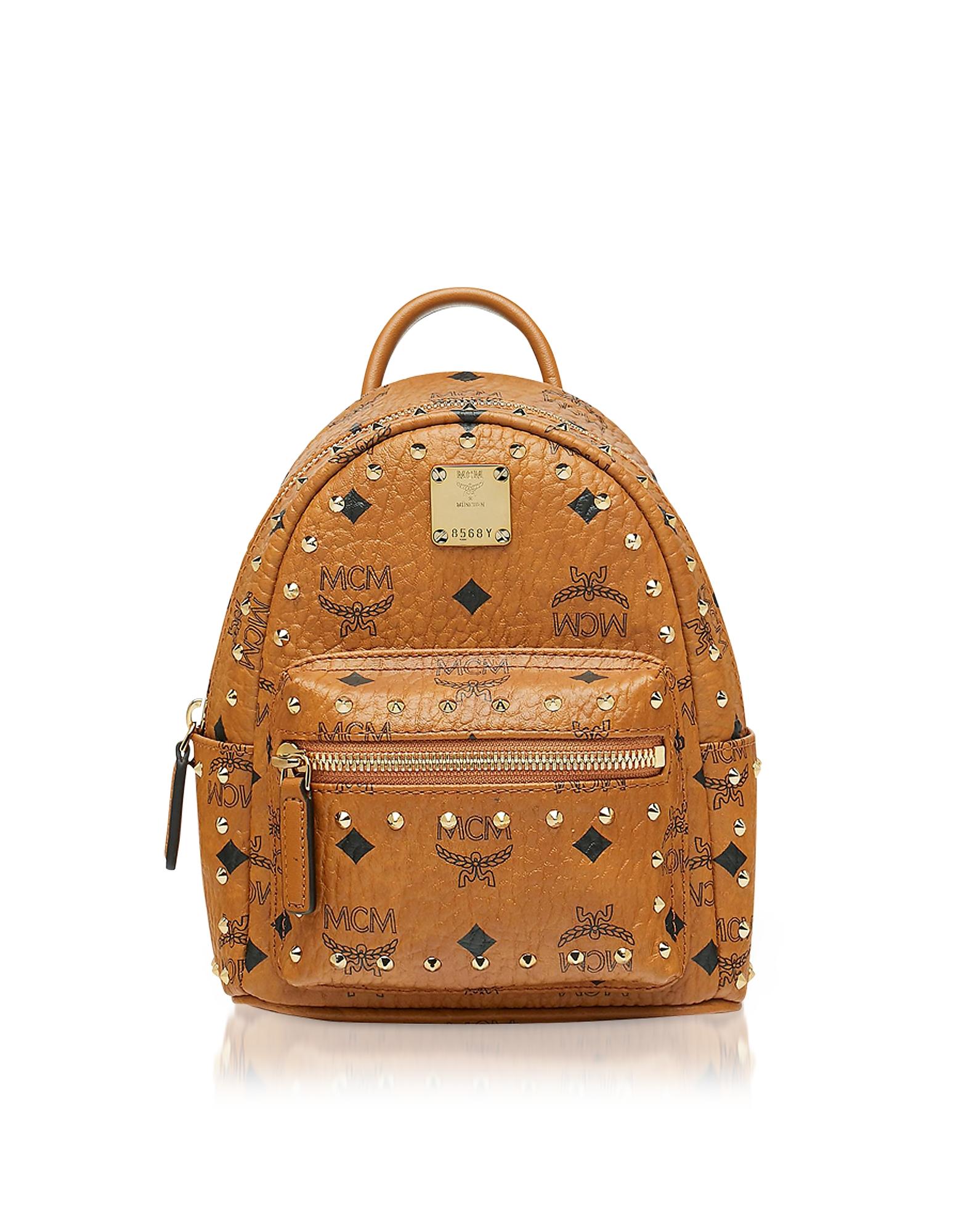 MCM Handbags, Studded Outline Visetos Stark Bebe Boo X-Mini Backpack