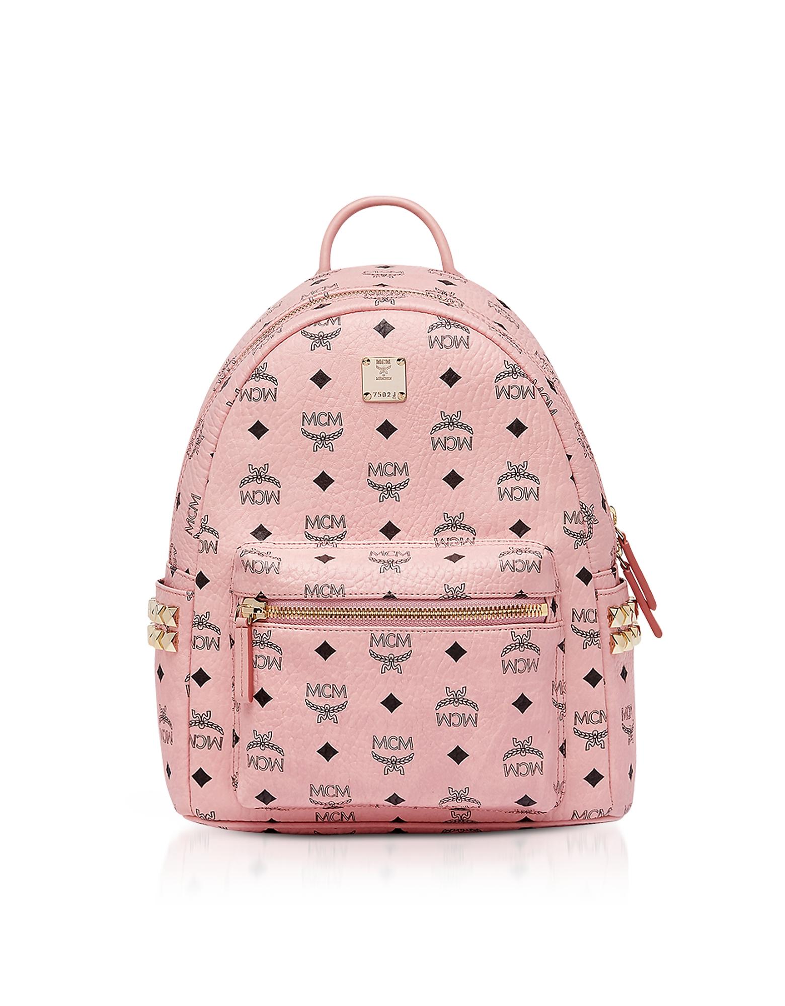 Soft Pink Visetos Stark Side Studs Backpack