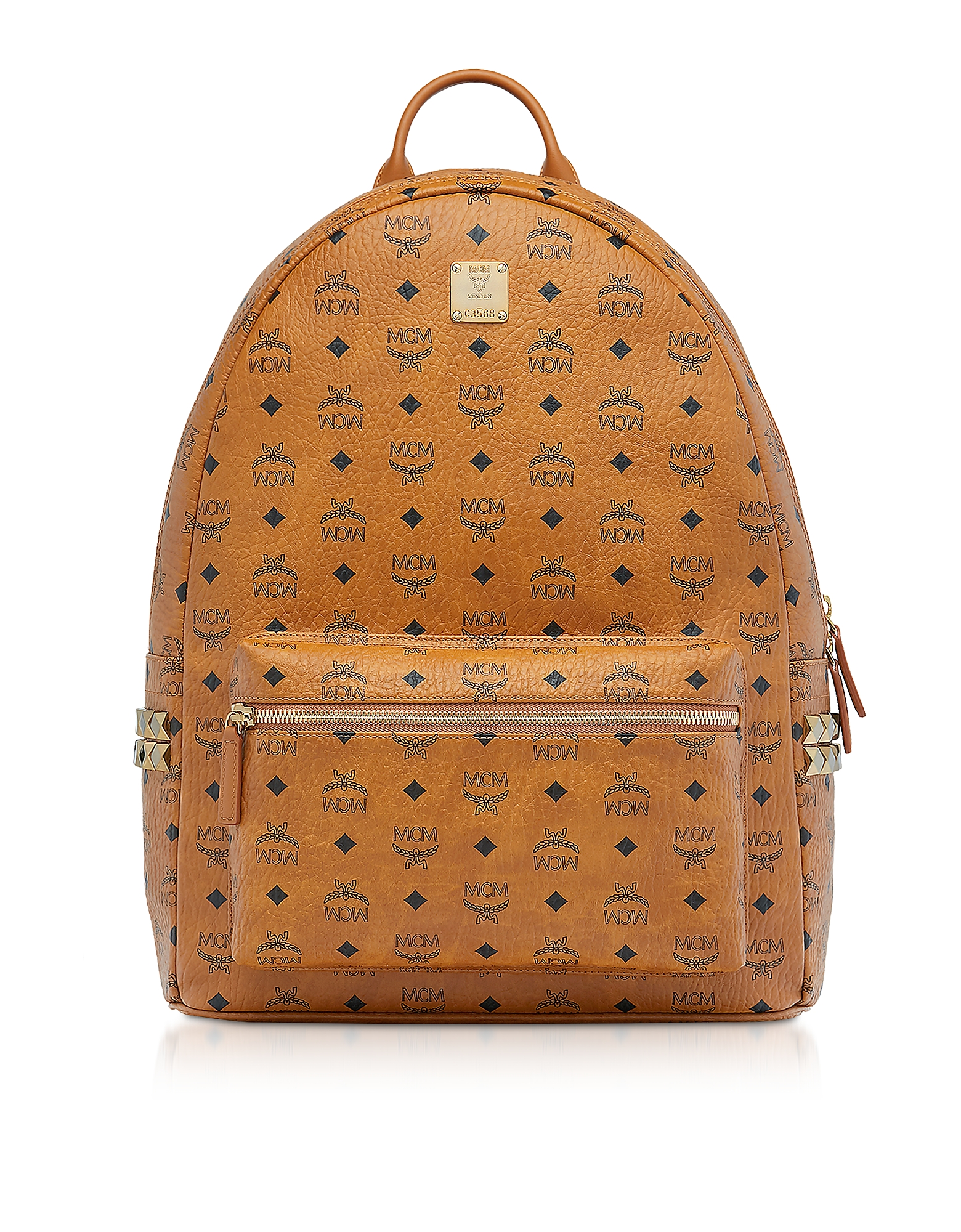 Cognac Visetos Stark 47 Backpack w/Side Studs