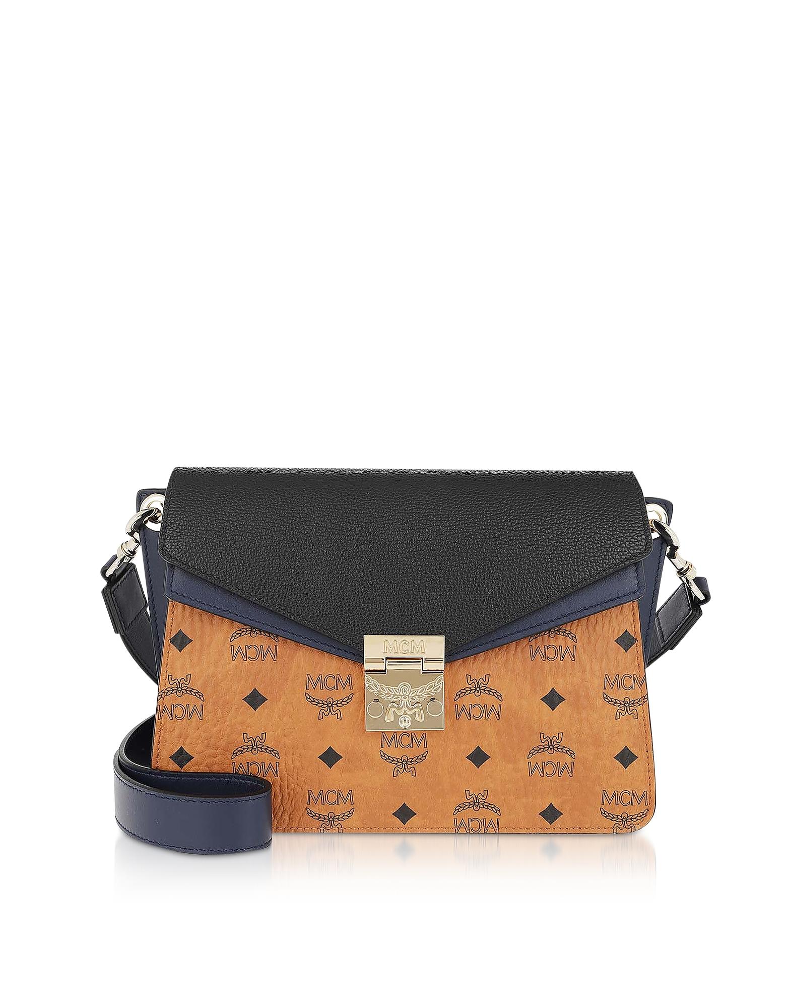 Patricia VIsetos Leather Block Small Satchel Bag
