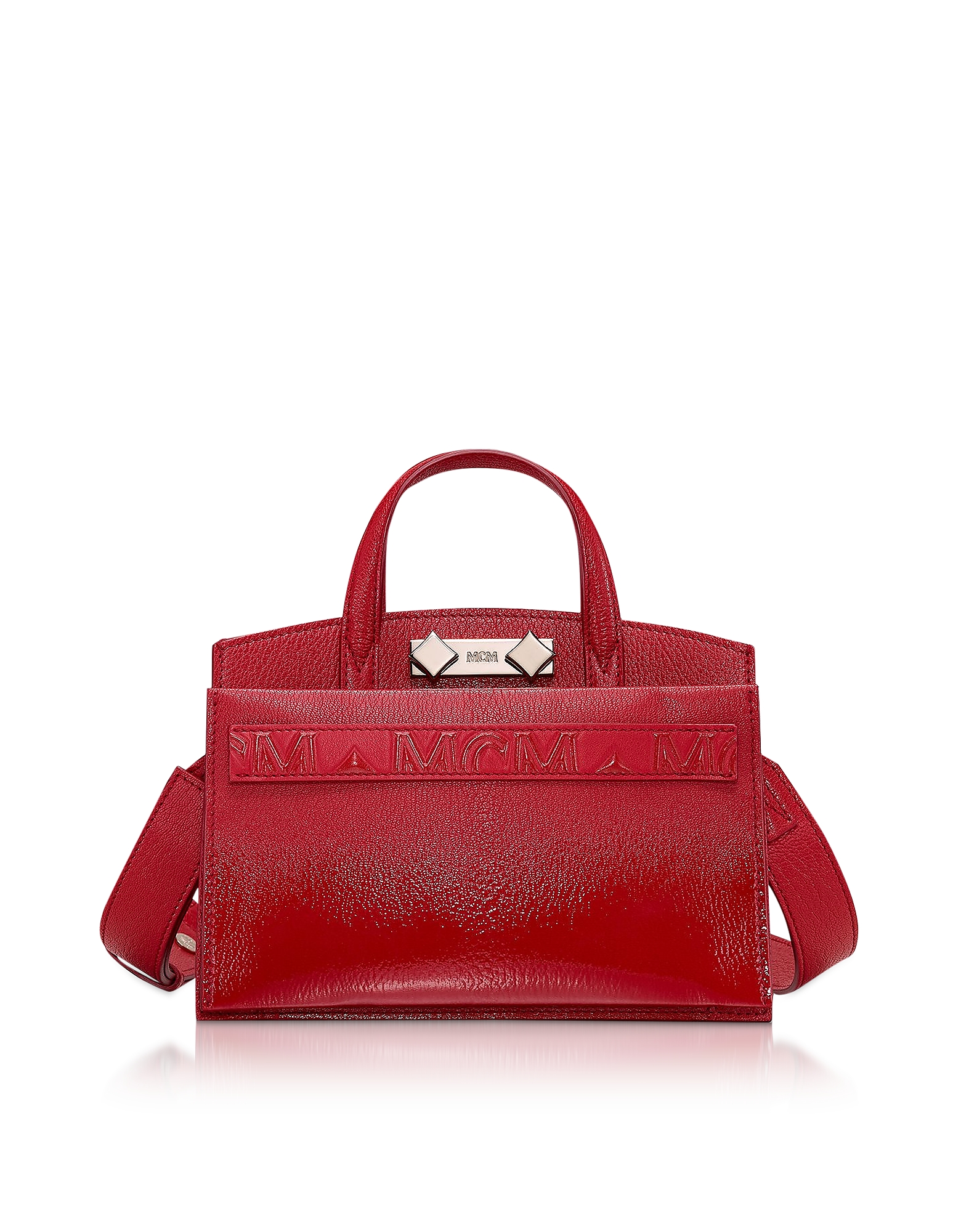 Ruby Red Milano Patent Mini Tote Bag