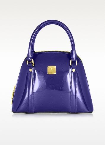 Greta - Small Patent Leather Bowler - MCM