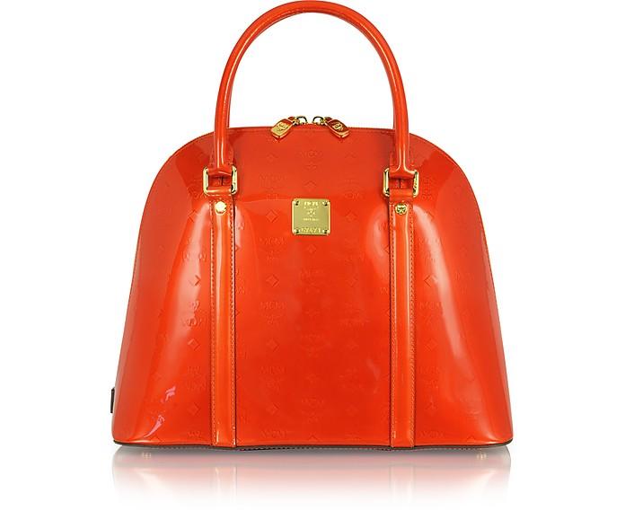 Ivana Patent Leather Medium Bowler - MCM
