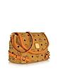 Vintage Visetos - Embossed Eco-Leather Shoulder Bag - MCM