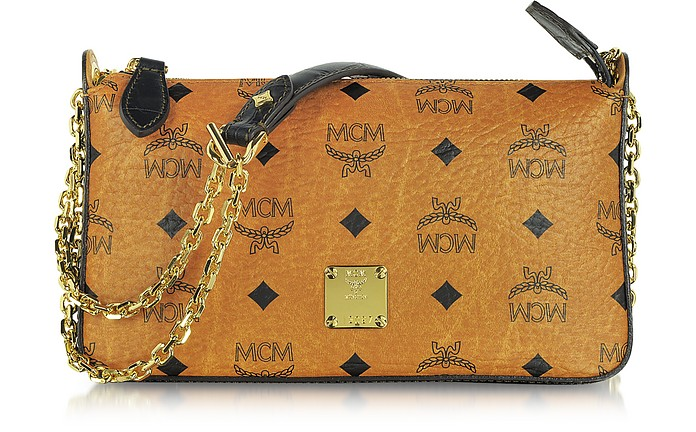 Vintage Visetos Mini Zip Shoulder Bag - MCM