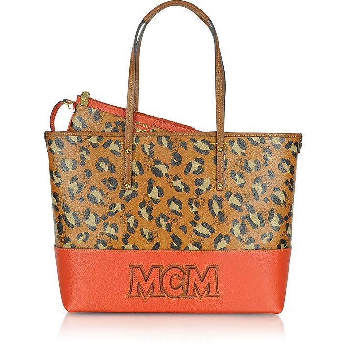 Shopper Project - Leopard Print Logo EW Medium Tote - MCM
