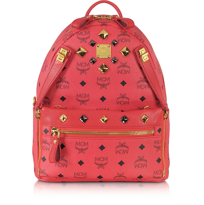Red Dual Stark Backpack Small - MCM