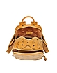 Cognac Duke Visetos New Small Backpack - MCM