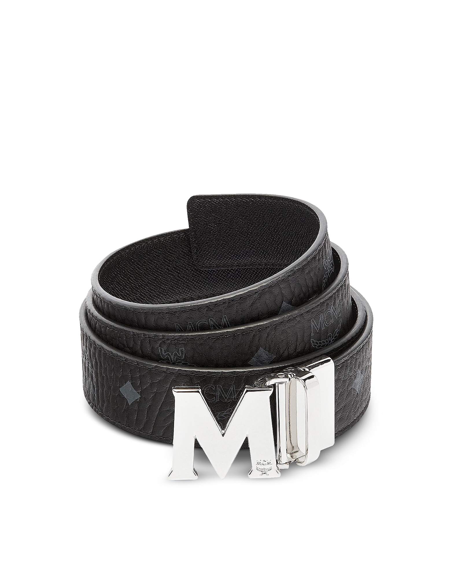 Black Visetos Claus M Reversible Belt