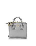 MCM Milla Mini Bag Porta Carte di Credito in Pelle Spike Silver - mcm - it.forzieri.com