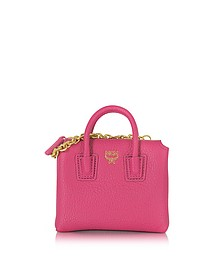 Pink Leather Milla Mini Bag Card Case - MCM
