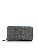 MCM Color Visetos Portafoglio Nero con Zip Turchese - mcm - it.forzieri.com