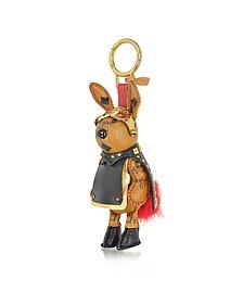 Cognac Rabbit Charm - MCM