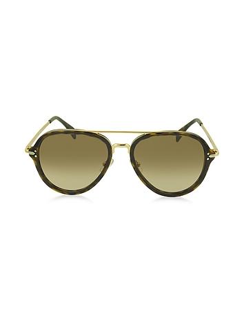 C line - DROP CL 41374/S Acetate Aviator Unisex Sunglasses