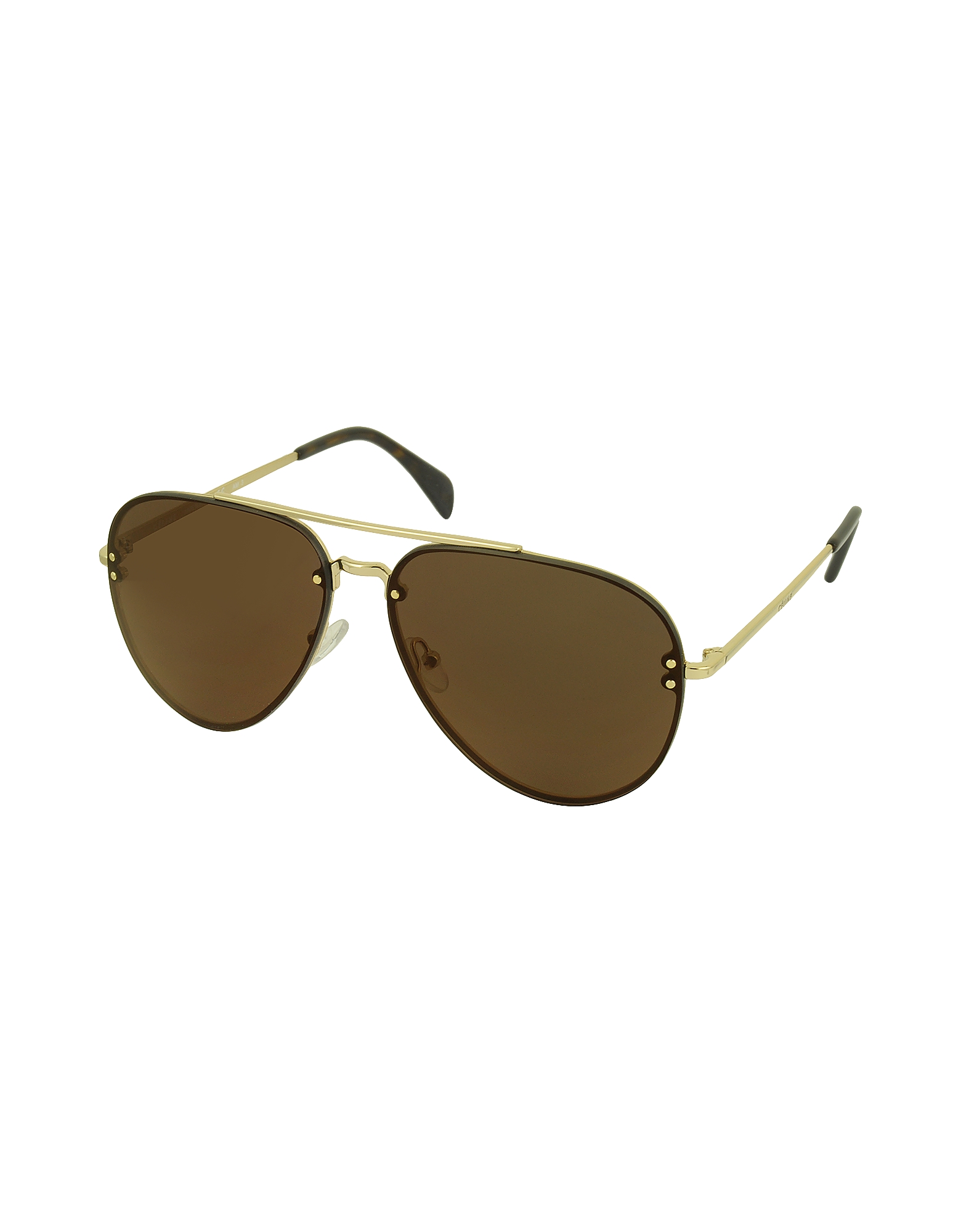 MIRROR CL 41391/S J5GLC Black Acetate & Gold Metal Aviator Unisex Sunglasses от Forzieri.com INT