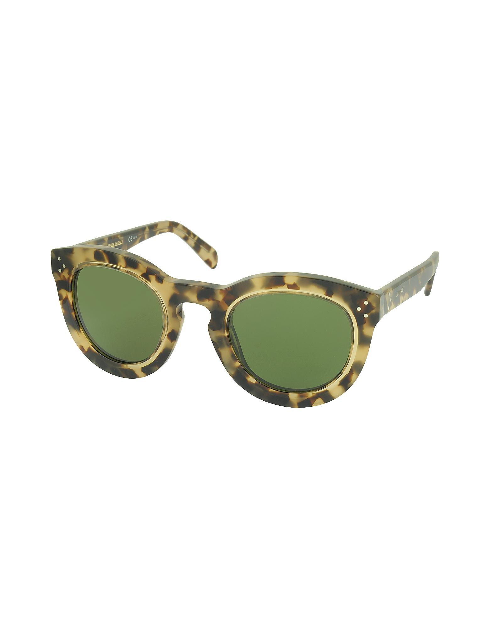 AGNES CL 41403/S T7H1E Havana Acetate Round Women's Sunglasses от Forzieri.com INT