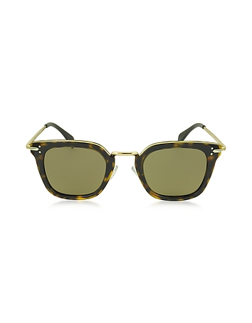 C line - VIC CL 41402/S Acetate and Gold Metal Cat Eye Women's Sunglasses
