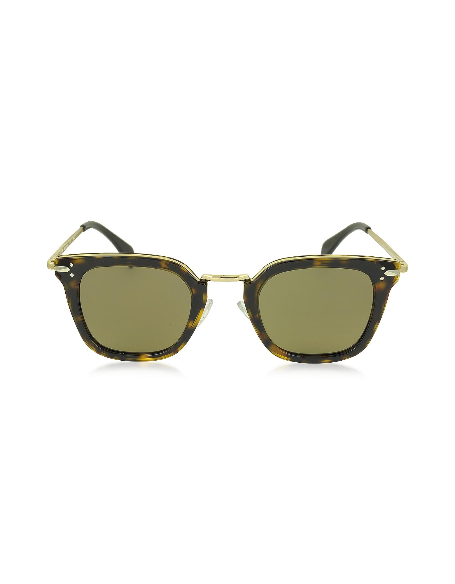 VIC CL 41402/S - Женские Солнечные Очки Кошачий Глаз из Ацетата и Золотистого Металла