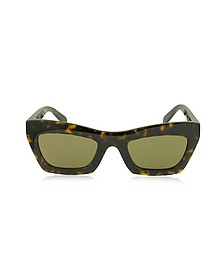 EVA CL 41399/S O86X7 Havana Acetate Cat Eye Women's Sunglasses - Céline