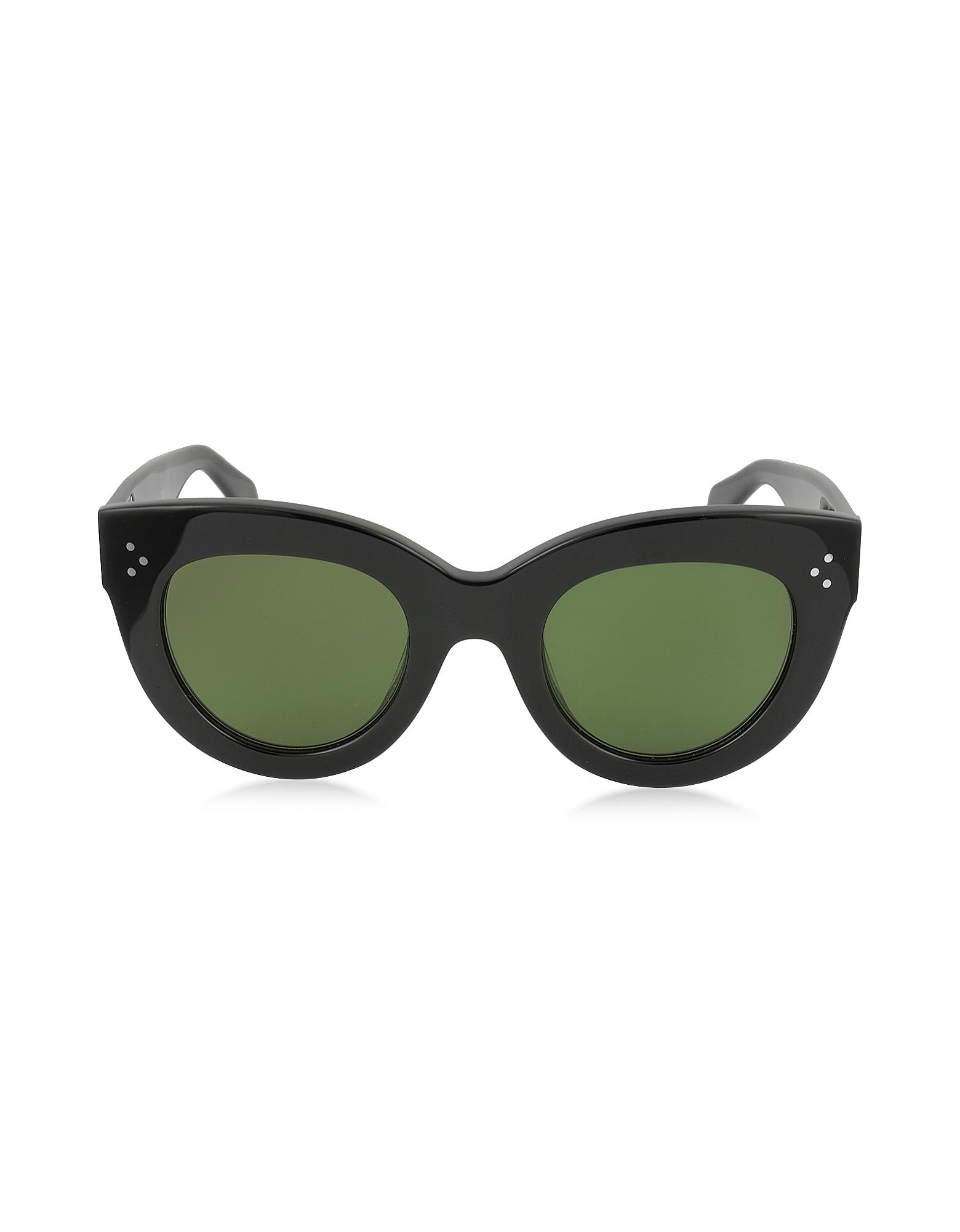CATY CL 41050/S 8071E - Черные Женские Солнечные Очки Кошачий Глаз из Ацетата