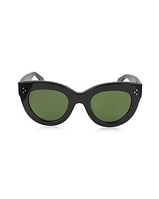 CATY CL 41050/S 8071E Black Acetate Cat Eye Women's Sunglasses - Céline