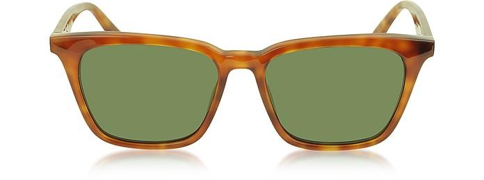 CL 41065/S Thin Squared Havanna Acetate Women's Sunglasses - Céline