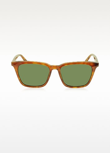 CL 41065/S Thin Squared Havanna Acetate Women's Sunglasses - Céline