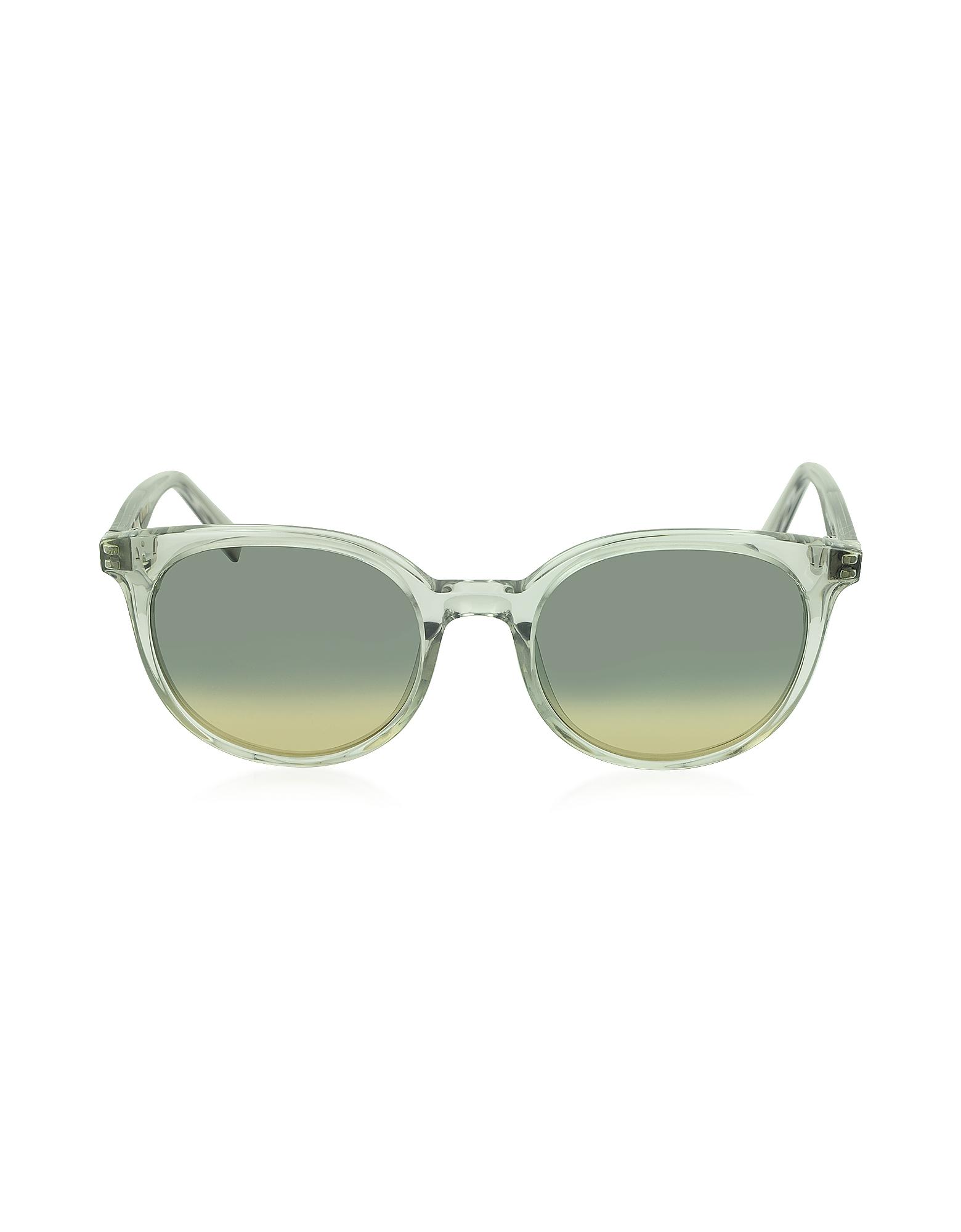 CL 41067/S - Прозрачные Женские Солнечные Очки в Круглой Оправе