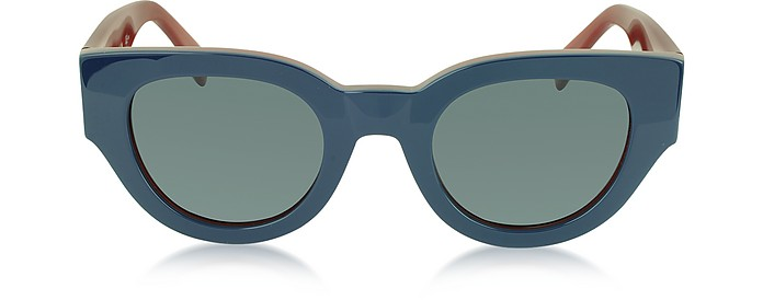 CL 41064/S Bicolour Branch In Blue and Red Acetate Frame Women's Sunglasses - Céline
