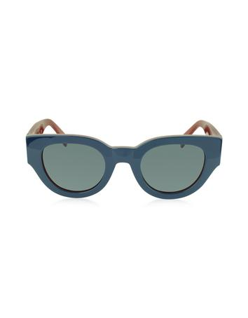 Lux-ID 209480 CL 41064/S Bicolour Branch In Blue and Red Acetate Frame Women's Sunglasses