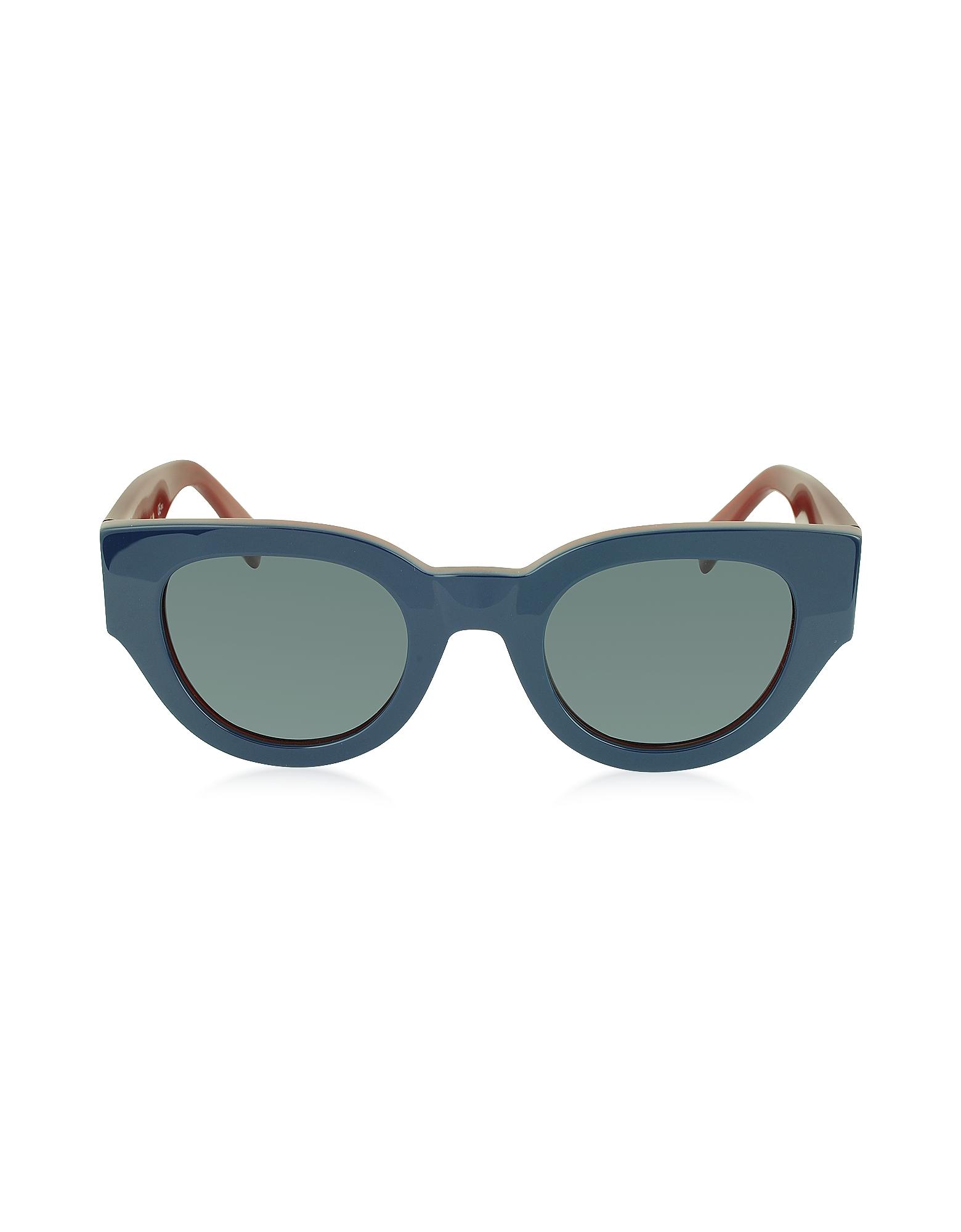 CL 41064/S - Синие и Красные Женские Солнечные Очки в Оправе из Ацетата