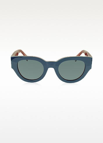 CL 41064/S Bicolour Branch In Blue and Red Acetate Frame Women's Sunglasses