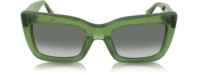 CL41039/S Opal Green Retro Flared Sunglasses - Céline