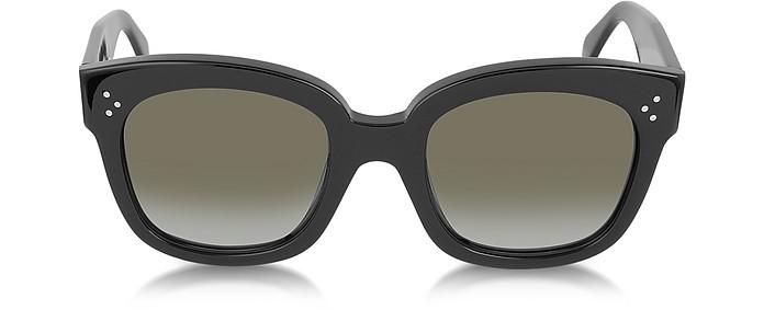 CL41805/S New Audrey Black Acetate Sunglasses - Céline