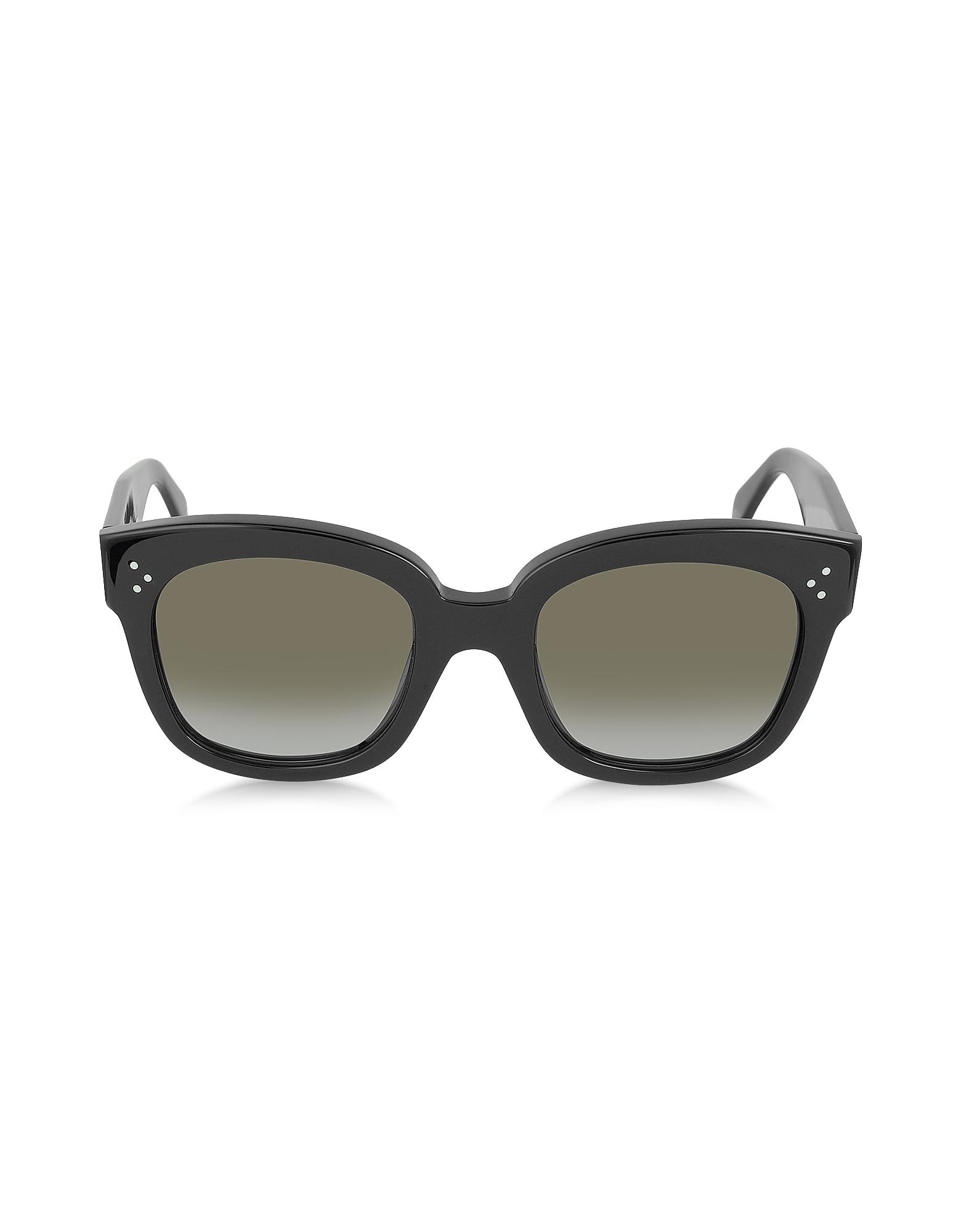 CL41805/S New Audrey - Черные Солнечные Очки из Ацетата