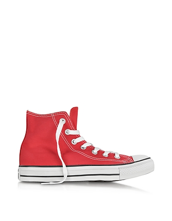 All Star Red Canvas High Top Sneaker