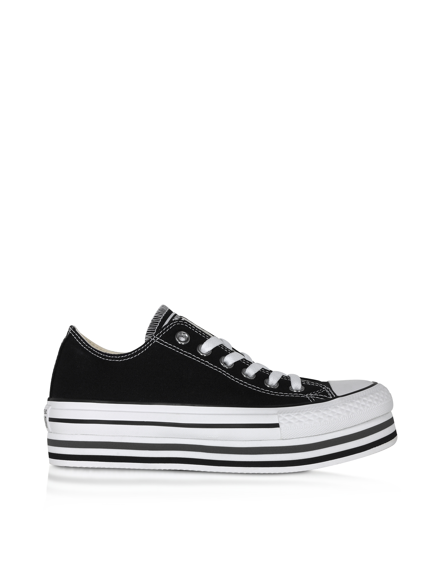 Converse Limited Edition Designer Shoes, Black Chuck Taylor All Star Platform EVA Layer