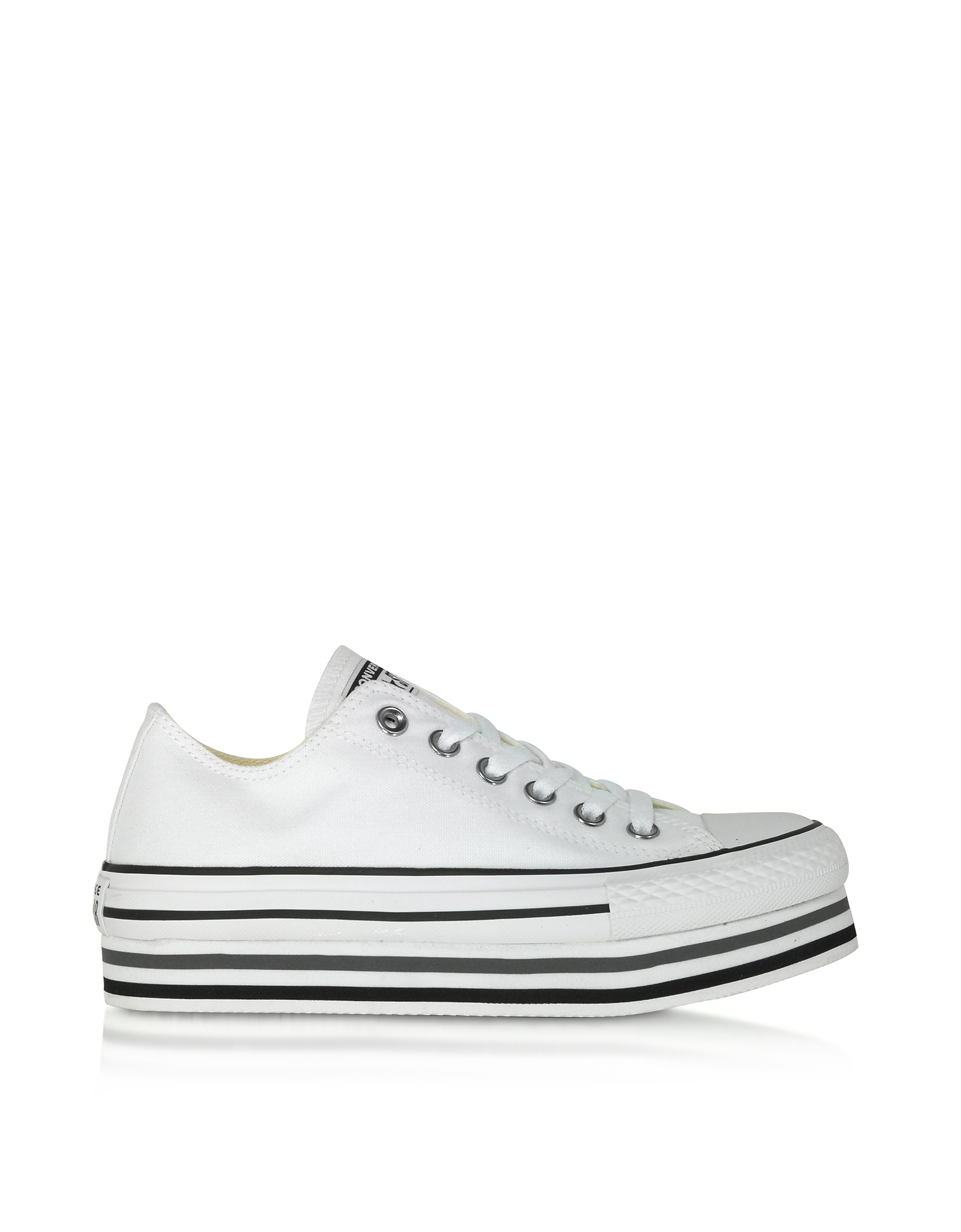 Converse Limited Edition Designer Shoes, White Chuck Taylor All Star Platform EVA Layer