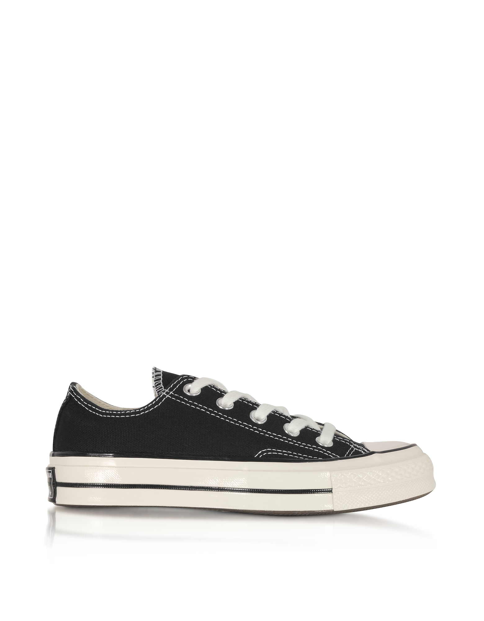 Converse Limited Edition Designer Shoes, Black Chuck 70 w/ Vintage Canvas Low Top