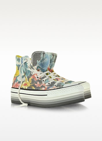 All Star High-top Paradise Printed Canvas Platform Eva Sneaker - Converse Limited Edition