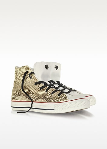 All Star High-top White Canvas and Snake LTD Sneaker - Converse Limited Edition