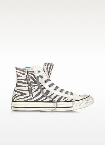 All Star High-top Animal Printed Canvas Zip Sneaker - Converse Limited Edition