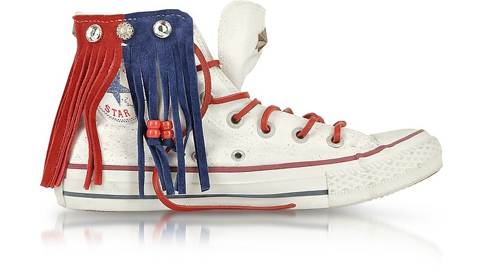 All Star Hi Canvas and Leather Fringe LTD Sneaker - Converse Limited Edition